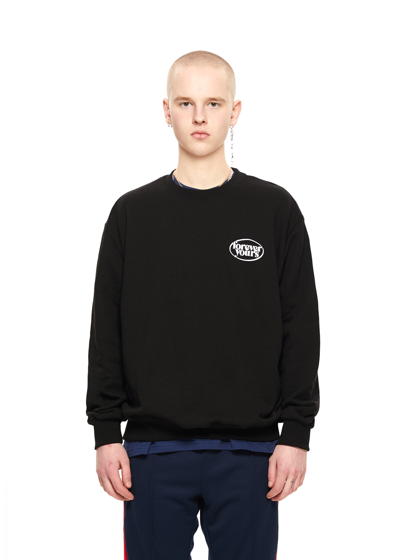 FOREVER YOURS SMALL LOGO SWEATSHIRTS_BK