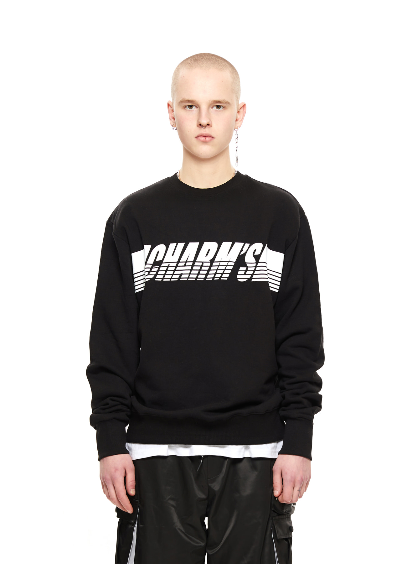 CHARMS WHITE LOGO SWEATSHIRTS