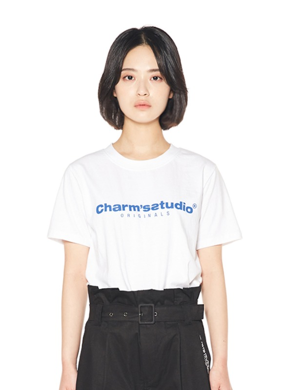 CHARMS STUDIO BASIC LOGO T_WH