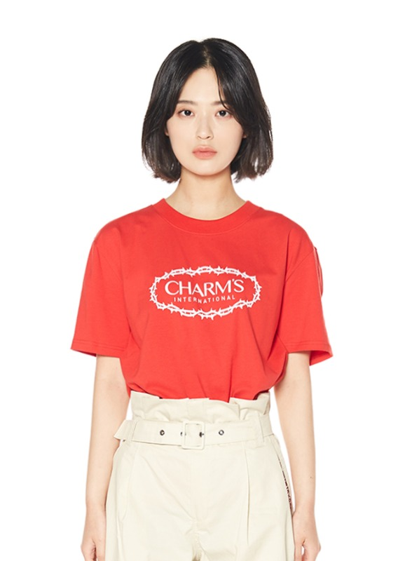 CHARMS ROSE CIRCLE LOGO T_RE