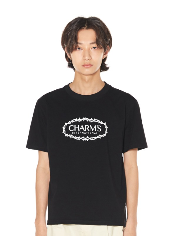 CHARMS ROSE CIRCLE LOGO T_BK