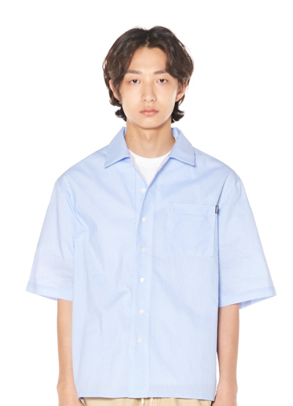 CHARMS STRIPE HALF SHIRTS_BL