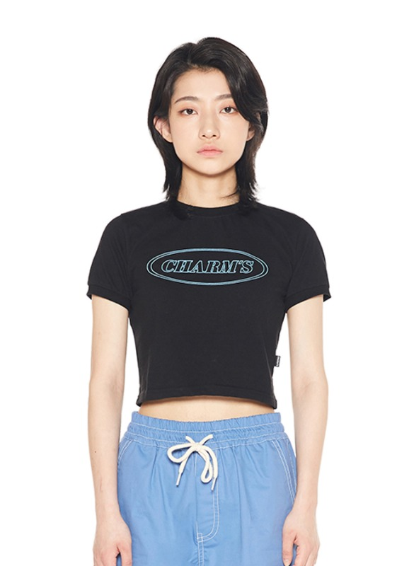 CHARMS LINE CIRCLE LOGO CROP T_BK
