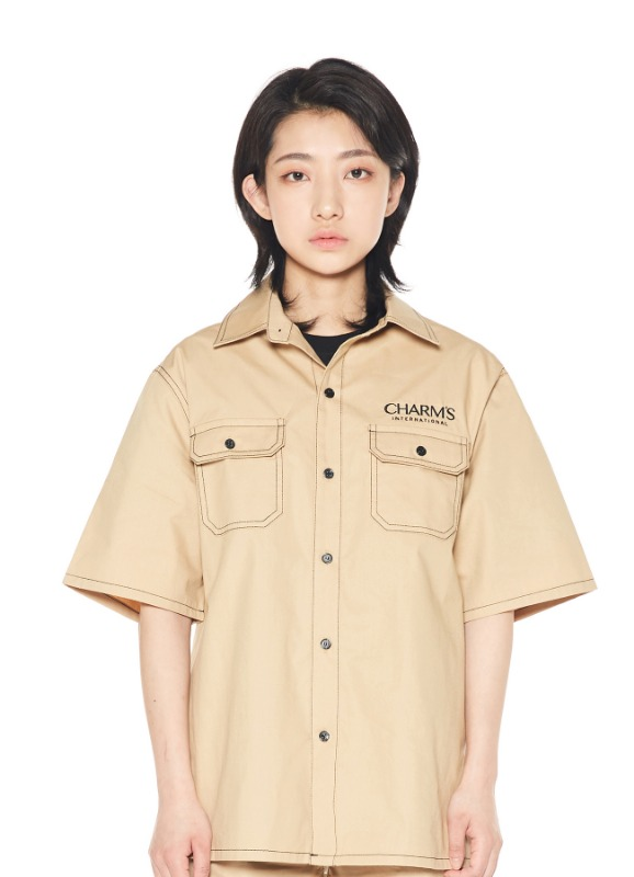 CHAMRS STITCH LINE HALF SHIRTS_BE