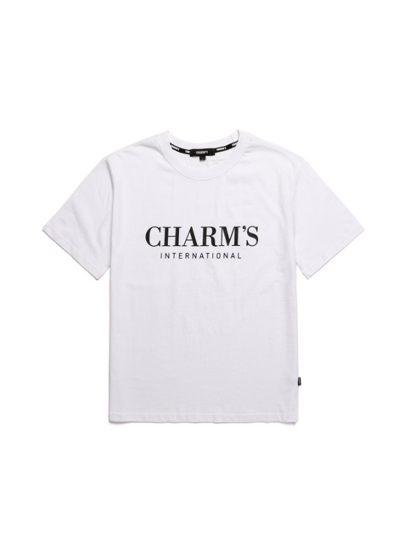 CHARMS BASIC LOGO T-SHIRTS_WH